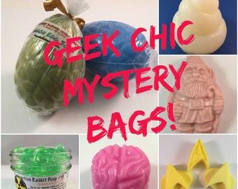 Geek Chic Mystery Bag - Random Fandom Surprise Bag -  Value Grab Bag - White Elephant - Treat Bag - Mystery Box - Nerd Gift - Secret Santa