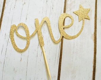 One Cake Topper - First Birthday Cake Topper - 4th of July First Birthday - Star Cake Topper - Twinkle Twinkle Little Star Birthday