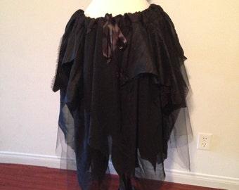 Black Upcycled Fairy Skirt