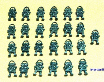 "Lot of 25pcs ""ROBOT"" Antique Bronze Tone Metal Charms. #BC3441."