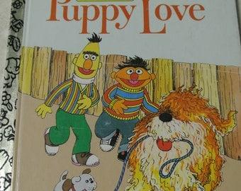 Vintage Bert And Ernie Puppy Love Book
