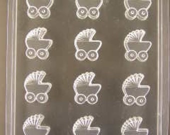 Baby Buggy Cupcake Toppers/Pieces Chocolate Mold