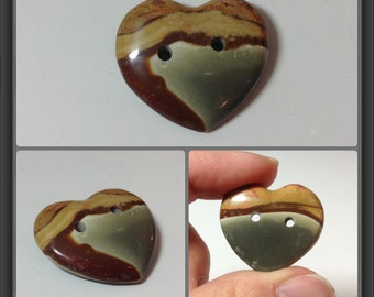 Jasper button 25x28x8mm