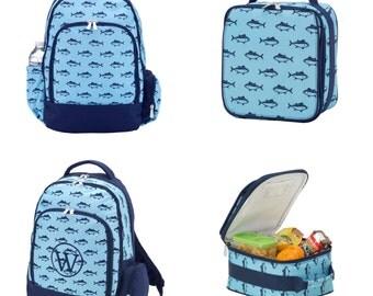 Finn Monogrammed Backpack and Lunchbox