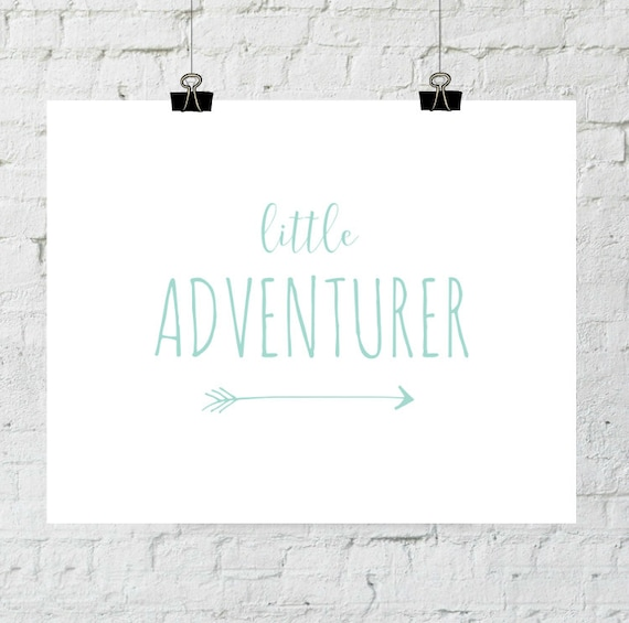 Baby Nursery Decor, Adventure Print, Little Adventurer, Bedroom Wall Decor, Instant Download, The Copper Anchor ADOPTION FUNDRAISER