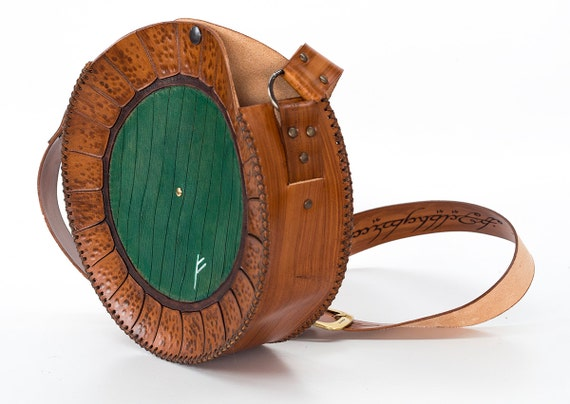 Like this item?  sc 1 st  Etsy & Green door bag-Hobbit inspired Bag End Leather Bag-FREE