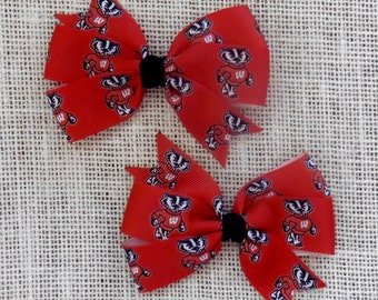 University of Wisconsin Badgers Bow Set