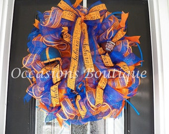 Auburn Tigers Wreath- Football Wreath- Auburn Tigers Door Hanger- Auburn Tigers Decoration