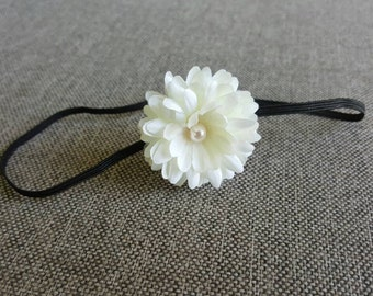 Baby flower headband, newborn headband, small flower headband