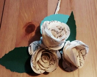 Tris Paper Flower Music Paper