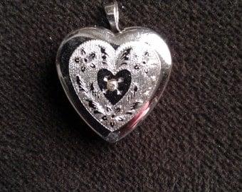 Silver Heart Charm Locket