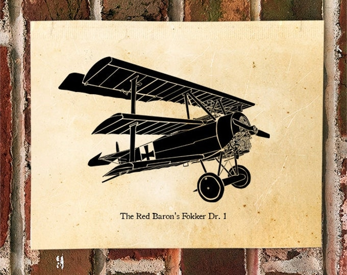 KillerBeeMoto: Limited Print The Red Baron's Fokker Dr. 1 Aircraft Print 1 of 50