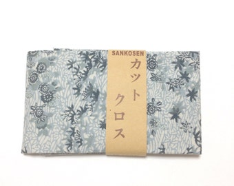 Japanese pattern fsbric, FREE SHIPPING, 50cm x 54cm, Japanese cotton fabric, leaf pattern fabric, DIY fabric, patchwork