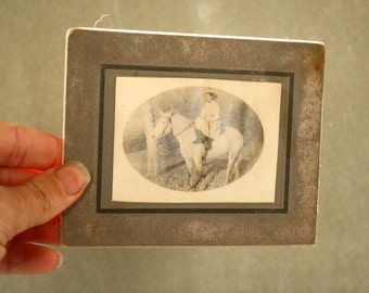 Horse Woman Riding Side Saddle Vintage Photo Collectible
