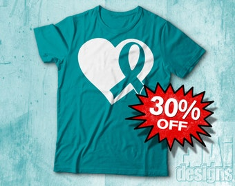 Interstitial Cystitis, Ovarian Cancer, Cervical Cancer, Scleroderma, Dysautonomia, Myasthenia Gravis, Teal Awareness Shirt