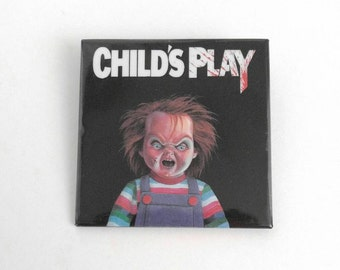 Vintage 1988 Child's Play Movie Chucky Pinback Button Authentic 2""