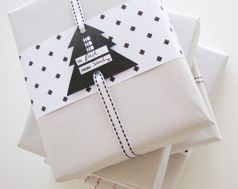 Christmas Wrapping Printables Paper DIY Printable Digital Download Tag Wrap XMAS Gift Tags Cards Packaging Present Holiday Season Print