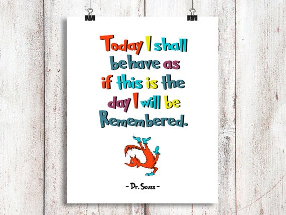 Christmas Grinch Quote 8 X 10 Digital Print Instant By: Dr Seuss Today I Shall... Instant Download Dr By