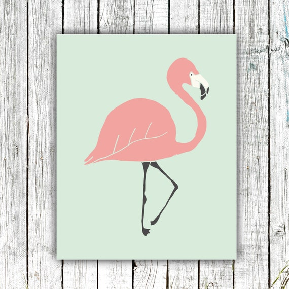 Nursery Art, Printable Art, Flamingo, hand-drawn, modern, nursery decor, children's decor #hh5