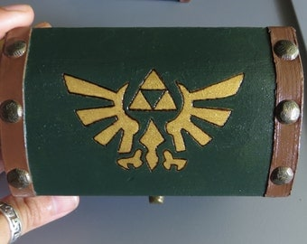 Legend of Zelda Inspired Box with Hand Sewn Piece of Heart