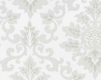 French Gray Damask Fabric - By The Yard - Girl / Boy / Gender Neutral