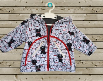 Baby jacket with cats