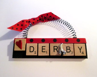 Roller Derby Scrabble Tile Ornament