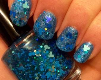 Under the Sea ~ 15 mL Full size bottle ~ Indie Handmade Nail Polish Glitter Topper