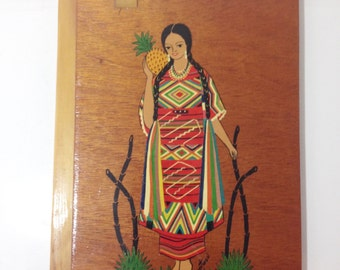 Vintage Handmade Hand-painted Mexican Journal