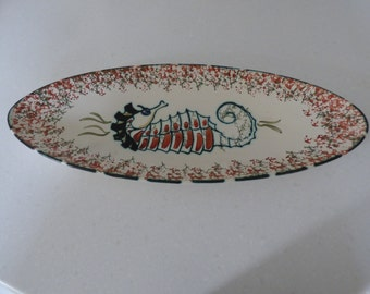 Honiton Pottery Seahorse Serving Plate
