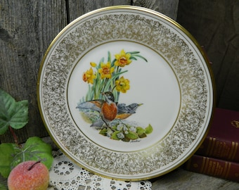 Vintage Lenox Annual Limited Edition of Boehm Birds - Robin - 1977