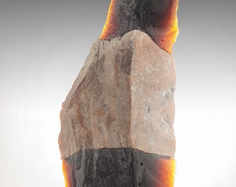 Amber Spire - Cast Glass Sculpture