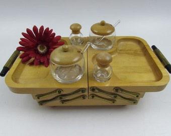 Vintage Karoff Fold Away Wood Buffet Server