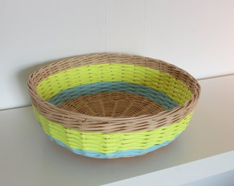 Recycle Bin/basket rattan and paper color
