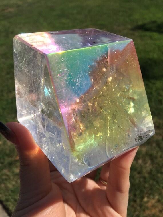 Angel Aura Geometric Quartz Crystal Spirit Quartz By