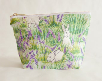 Bunny and Lavender Make Up Bag
