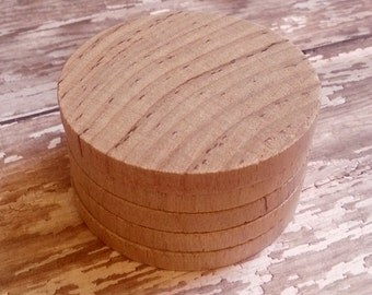 Unfinished Wood Cutout Chunky Circle