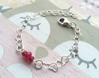 Bracelet sterling silver and Ruby