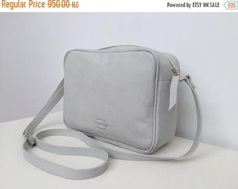 Leather clutch bag,Leather crossbody bag,White zipper bag,White leather purse