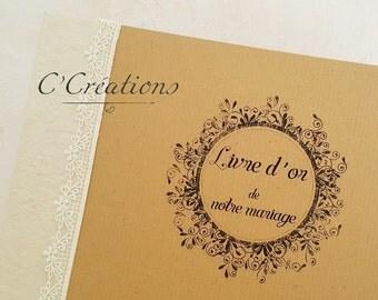 Wedding Guestbook kraft paper { Kraft & Crown }
