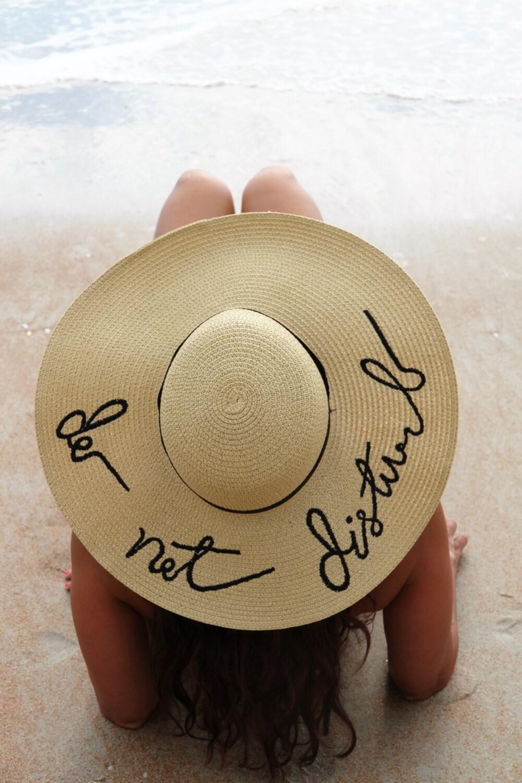 Do Not Disturb Embroidered Floppy Hat, Beach Hat, Honeymoon, Bachelorette  Party, Shower
