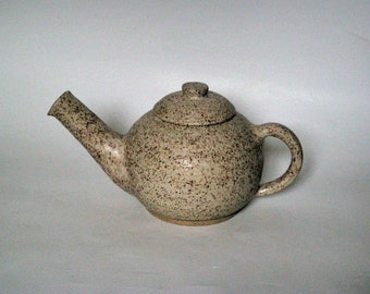 White Stoneware Tea Pot