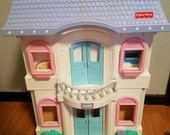 Fisher Price Loving Family Dollhouse, car, figures, furniture, accessories