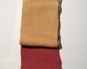 Vintage 1980s Hand Knit Super Soft Scarf