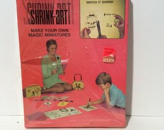 Vintage NIB 1960s Shrinky Dink Paper/Supply for shrunken baked miniatures