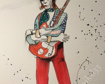 David Bowie Ziggy Stardust art print