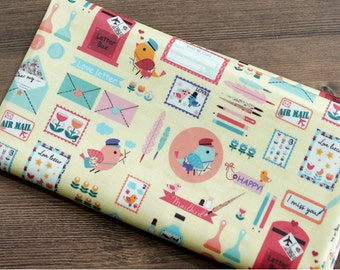 Laminated Cotton Fabric Love Letter By The Yard