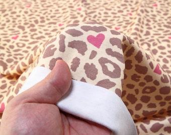 Interlock Knit Fabric Leopard Brown By The Yard
