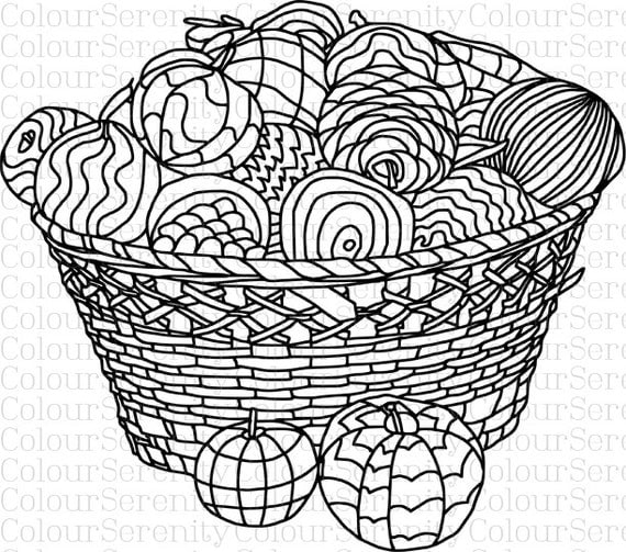Bread Basket Adult Coloring Pages