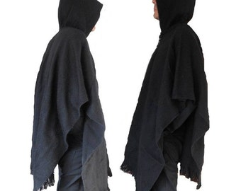 ponchos pour hommes etsy fr. Black Bedroom Furniture Sets. Home Design Ideas